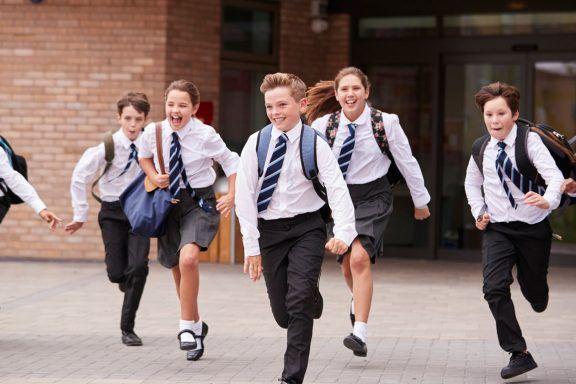 Children Playing at School