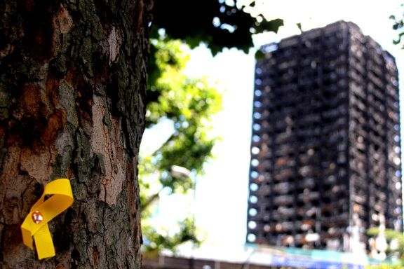 Remains of the Grenfell Tower