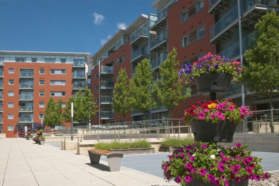 Residential Building Courtyard area
