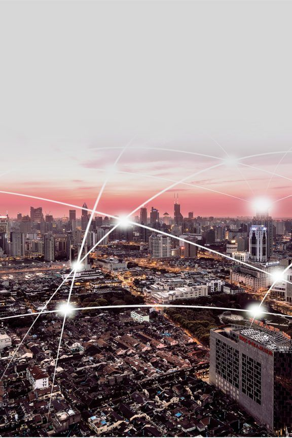 Interconnected Cityscape