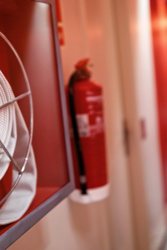 Fire Safety Fire Reel & Extinguisher