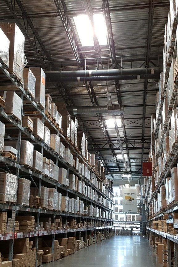 Warehouse Shelving from floor to ceiling